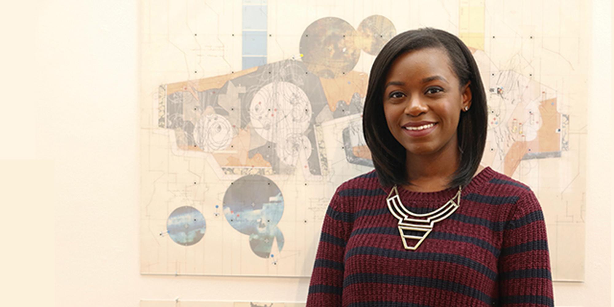 Bria Prioleau,  a dual Master of Architecture/Master of Urban Design student
