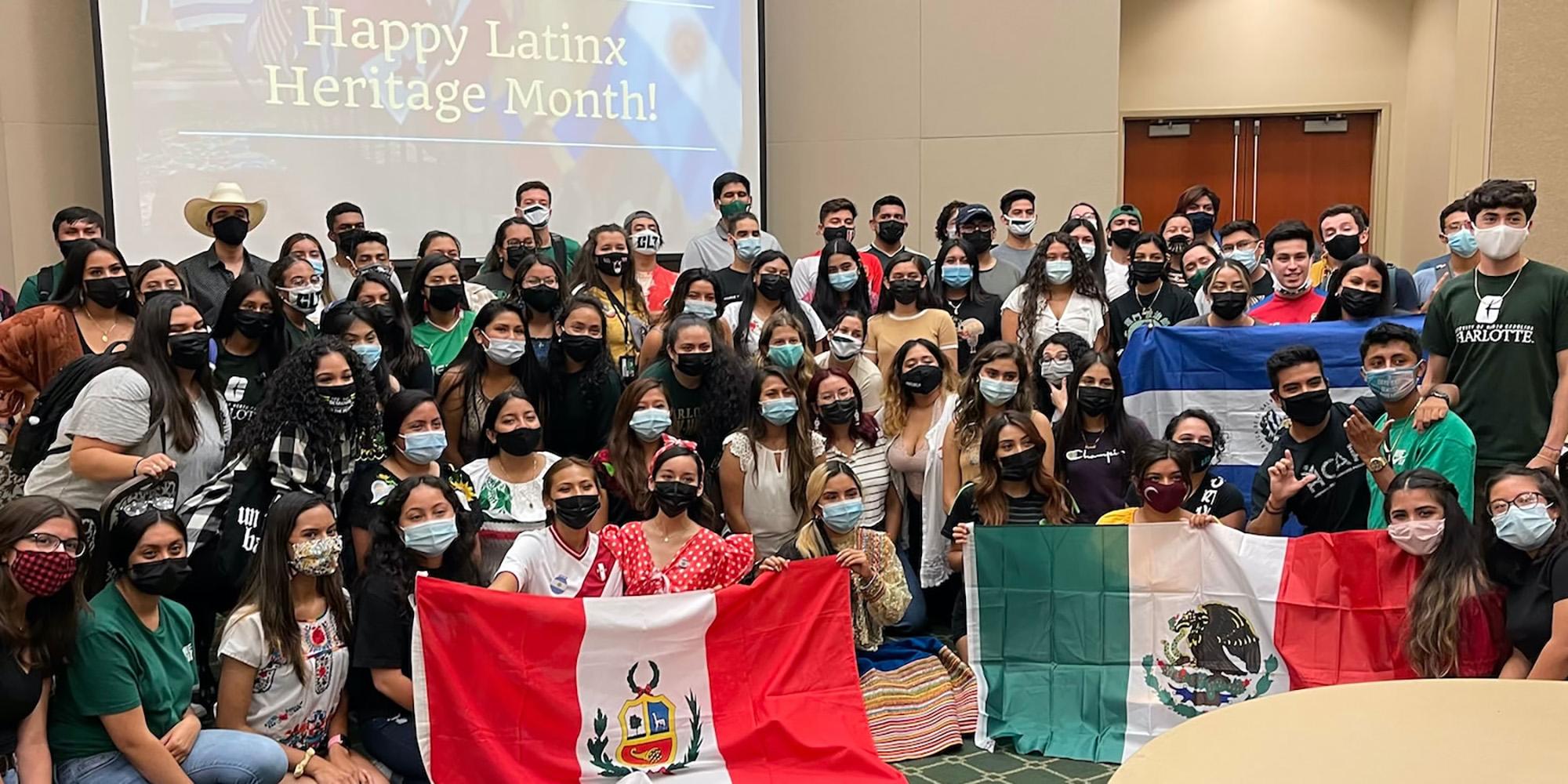 UNC Charlotte's Latin American Student Organization members