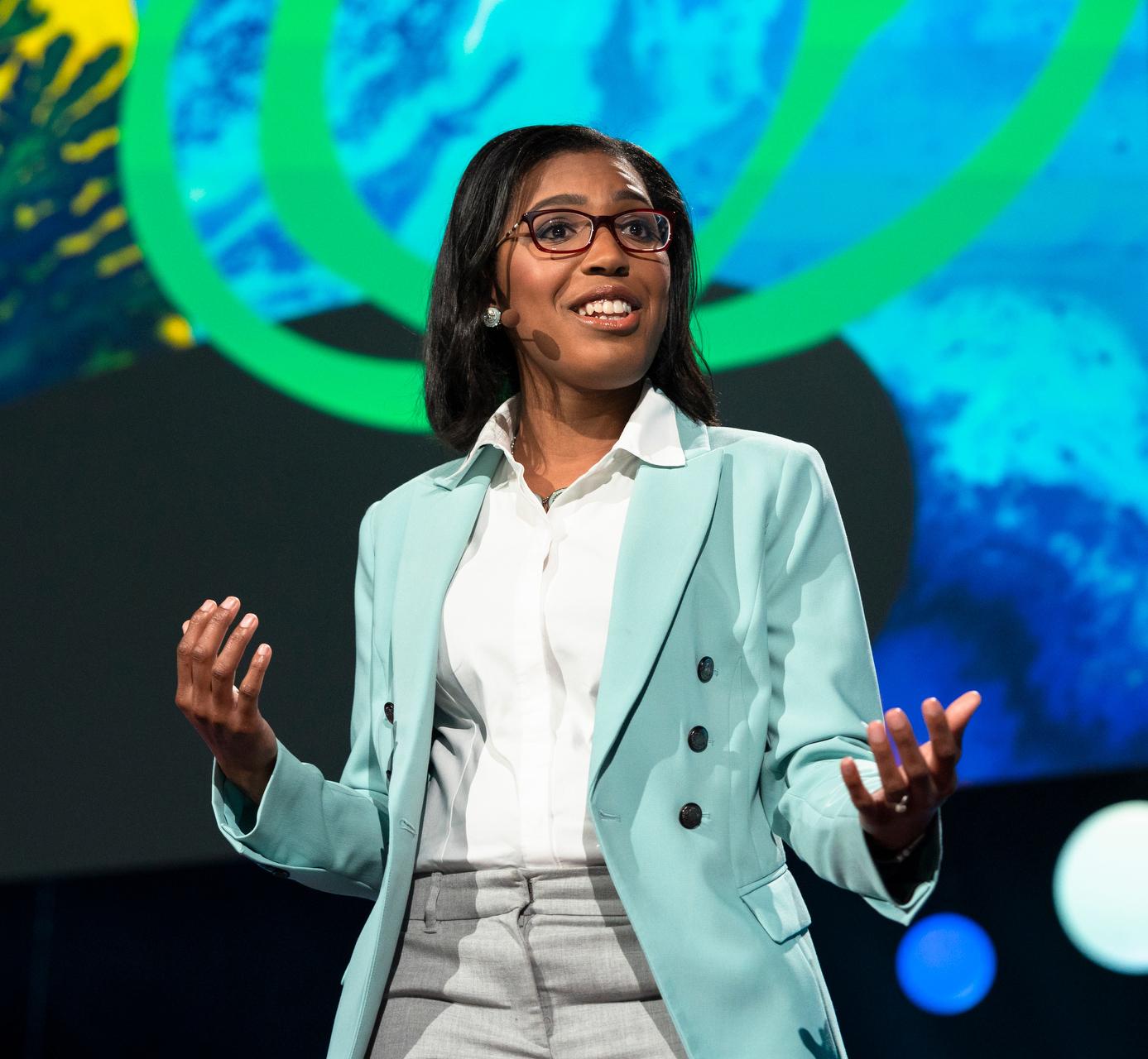 DeAndrea Salvador at 2018 TED Fellows